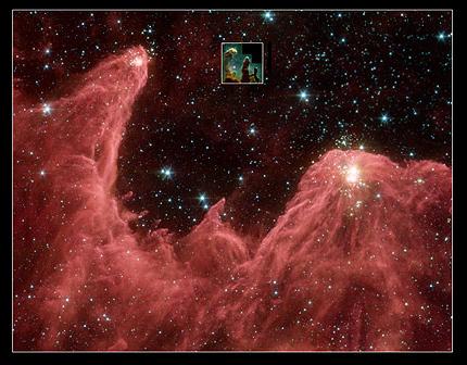 Forrás: NASA/JPL-Caltech/L. Allen (Harvard-Smithsonian CfA))