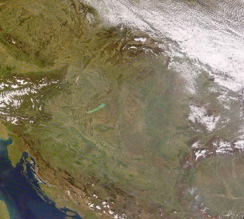 Forrás: TERRA, MODIS, ELTE