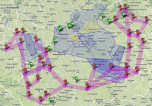 légifolyosók magyarország felett térkép Alacsonyan fognak szállni a vadászgépek Magyarország felett légifolyosók magyarország felett térkép