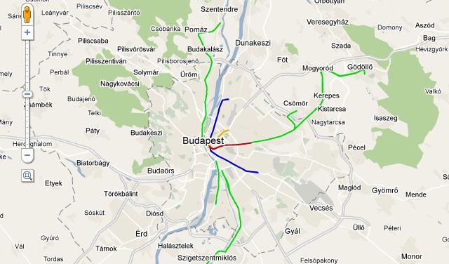 hév térkép Közpénzpazarlás nélkül készült el a BKV új útvonaltervezője hév térkép