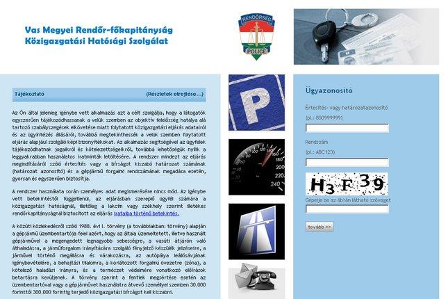 Forr�s: kozigbirsag.police.hu